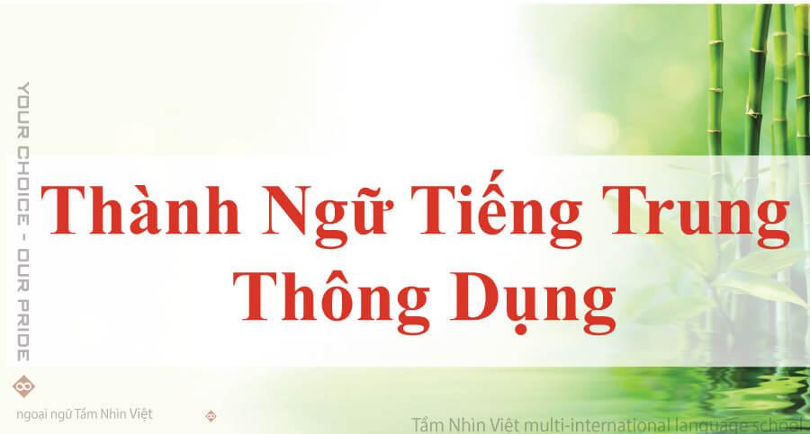 Thành ngữ tiếng Trung
