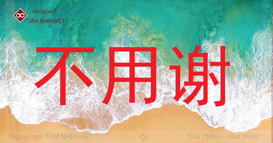 Đáp lại lời cảm ơn không có chi tiếng Trung