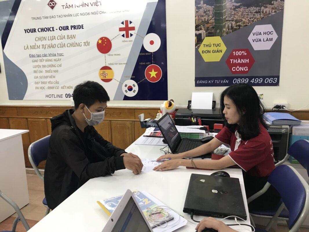 Quy trình đóng học phí của trung tâm Hoa ngữ Tầm Nhìn Việt