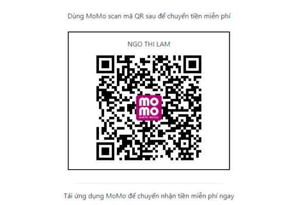 Mã QR Momo của trung tâm Hoa ngữ Tầm Nhìn Việt
