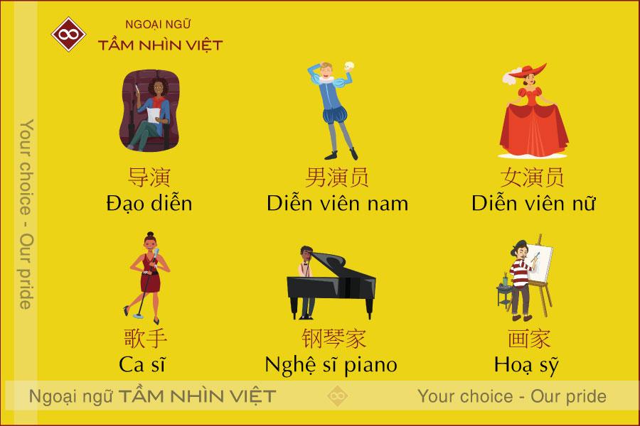 Các công việc tiếng Trung về nghệ thuật