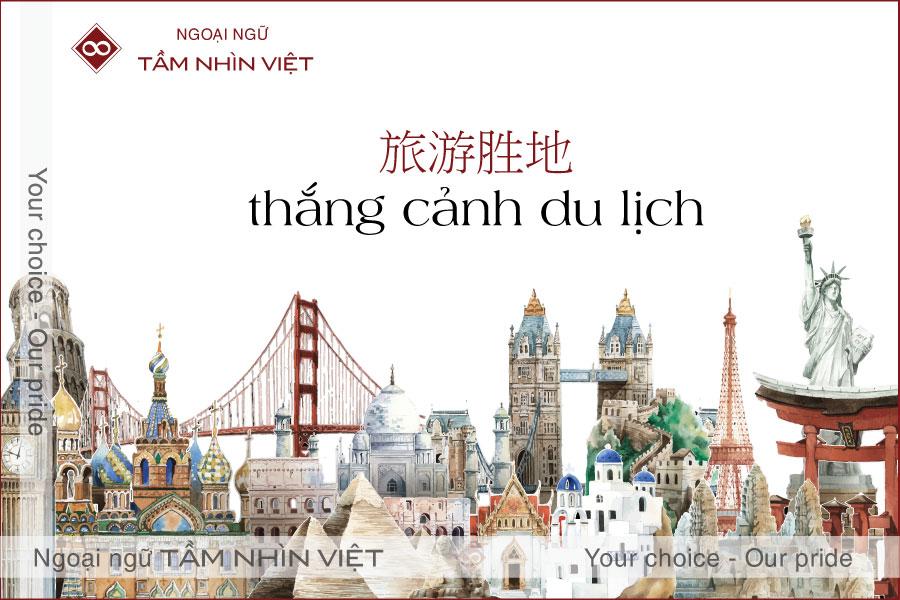 Các điểm đến du lịch trong tiếng Trung