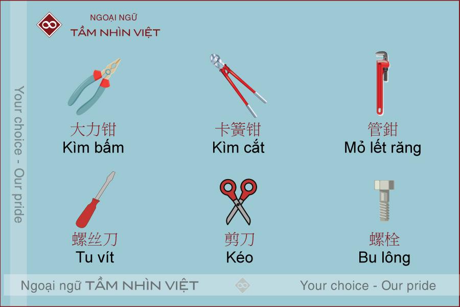Từ vựng tiếng Trung về dụng cụ, chuyên ngành kỹ thuật