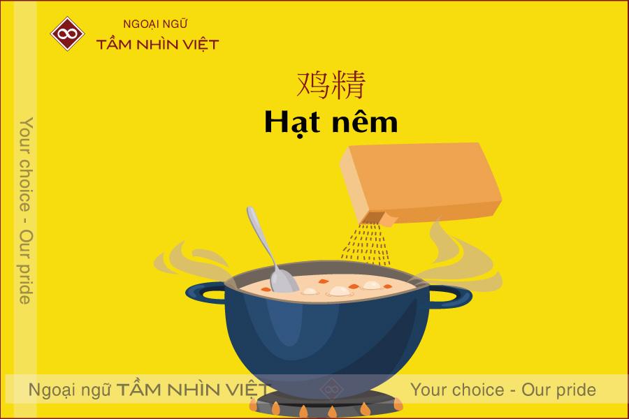 Từ vựng về hạt nêm trong tiếng Trung