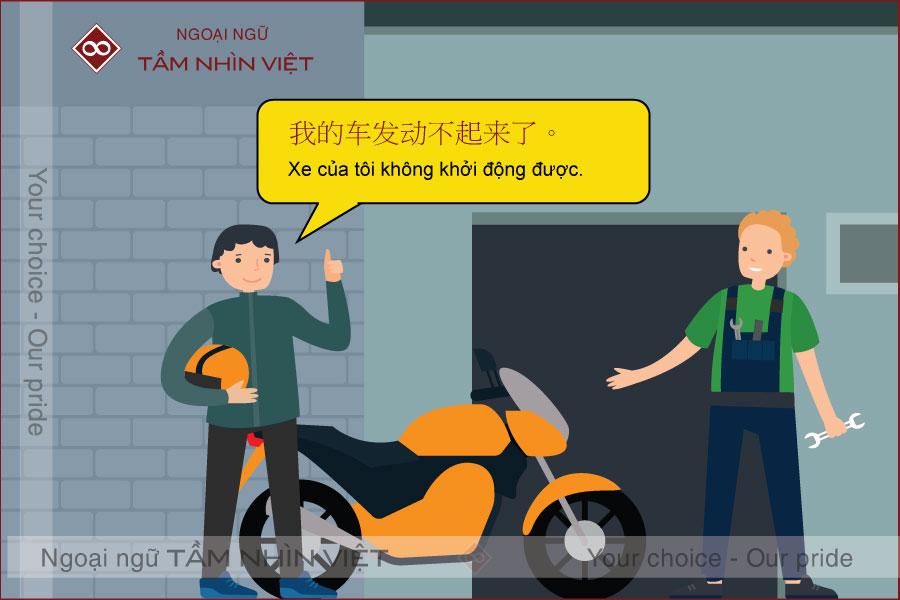 Từ vựng tiếng Trung về phụ tùng xe máy