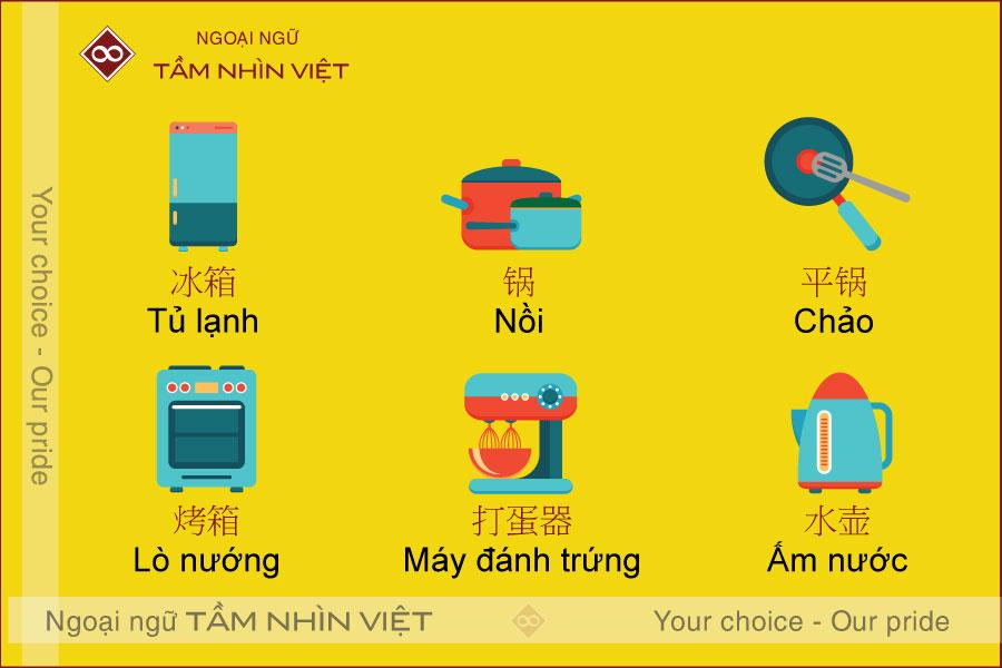 Từ vựng tiếng Trung tại nhà bếp
