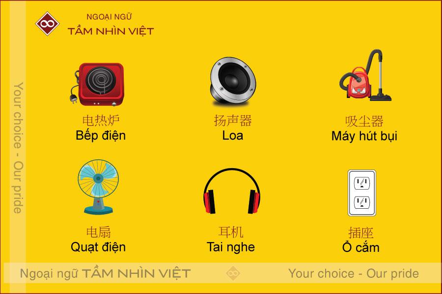 Các đồ dụng điện tử bằng tiếng Trung