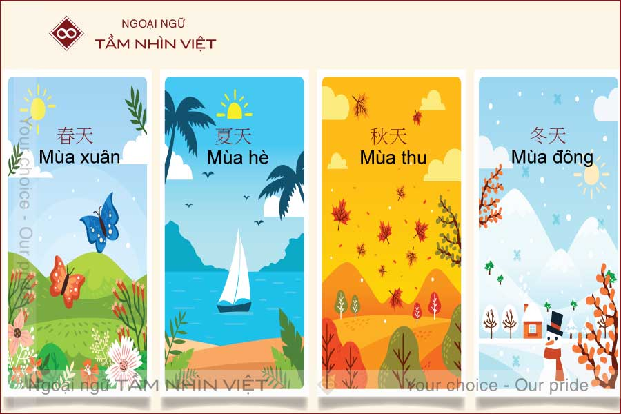 Bốn mùa trong tiếng Trung Quốc