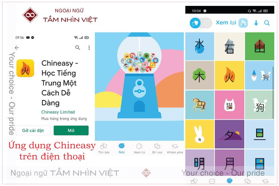 App chineasy học tiếng Trung hiệu quả