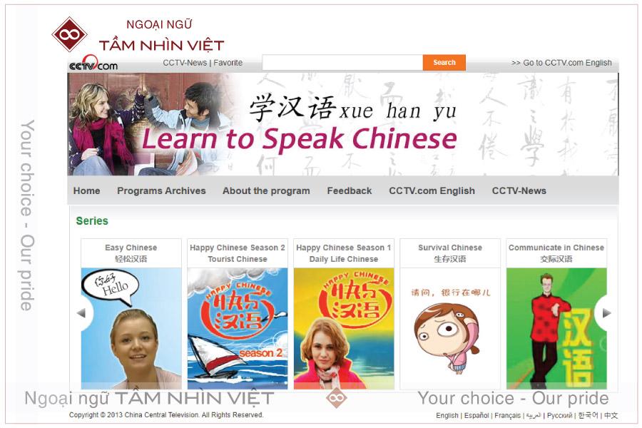 Web học tiếng Trung cho người nước người