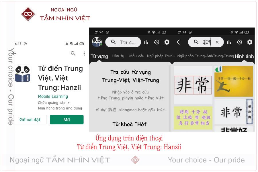 Từ điển Trung Việt Hanzii