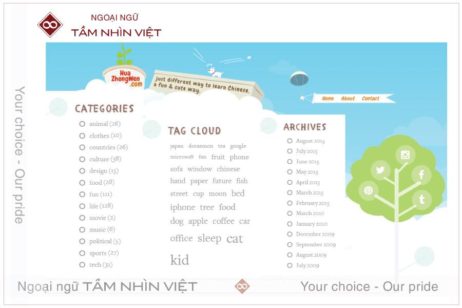 Website học tiếng Trung thú vị Huazhongwen