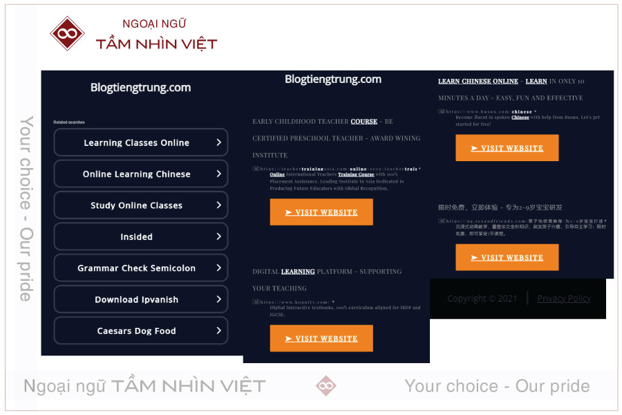 Học tiếng Trung nhanh chóng từ Blogtiengtrung