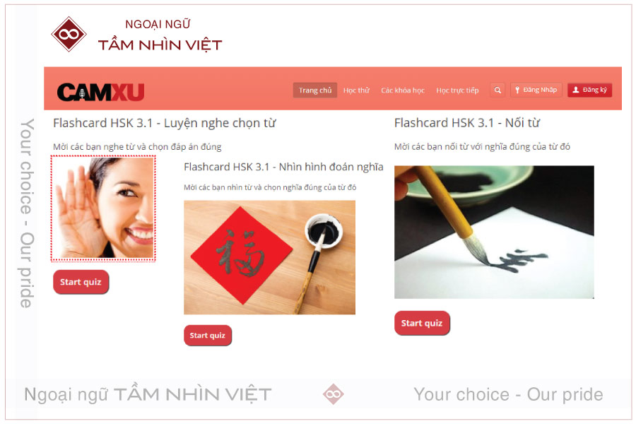 Các khóa học online miễn phí và hiệu quả từ web tiếng Trung Cầm Xu
