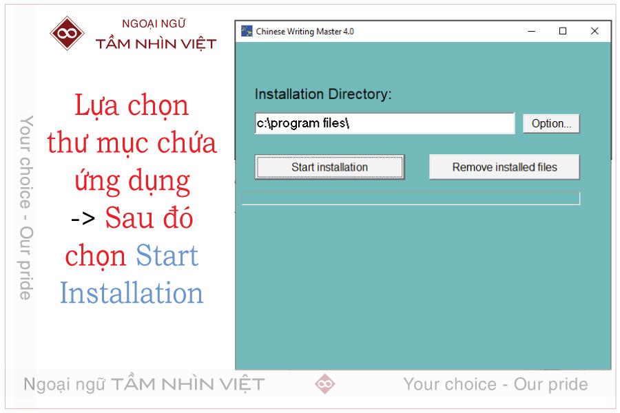 Cách lưu ứng dụng Chinese Writing Master 4.0 vào bộ nhớ khi cài đặt