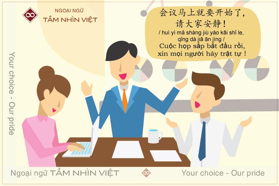 Những câu giao tiếp tiếng Trung trong công việc tại công ty