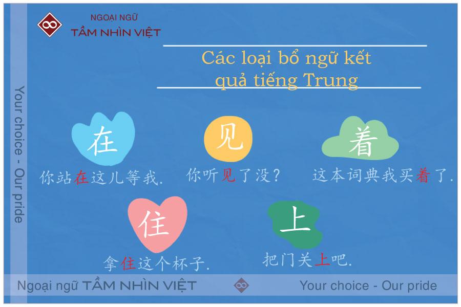 Các loại bổ ngữ kết quả tiếng Trung thông dụng trong tiếng Hoa