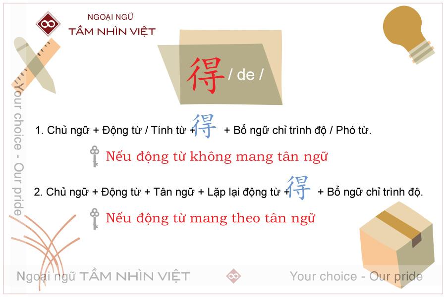 Cấu trúc ngữ pháp của trợ từ kết cấu 得 tiếng Trung Quốc