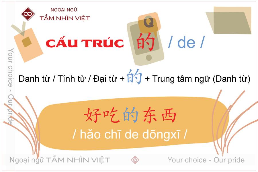 Cách sử dụng cấu trúc 的 trong tiếng Hoa