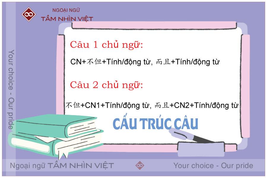 Lưu ý khi sử dụng cấu trúc không những mà còn tiếng Hoa
