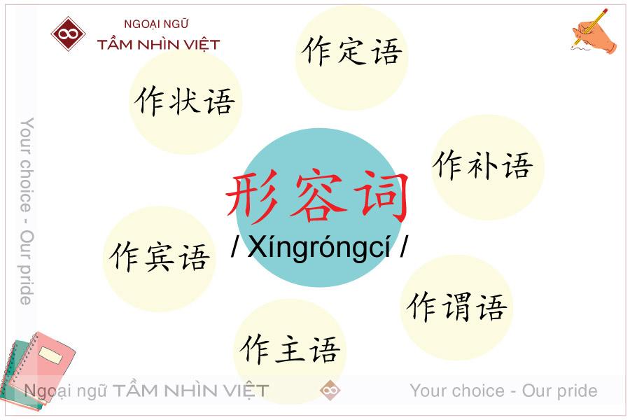 Chức năng của tính từ trong câu tiếng Trung