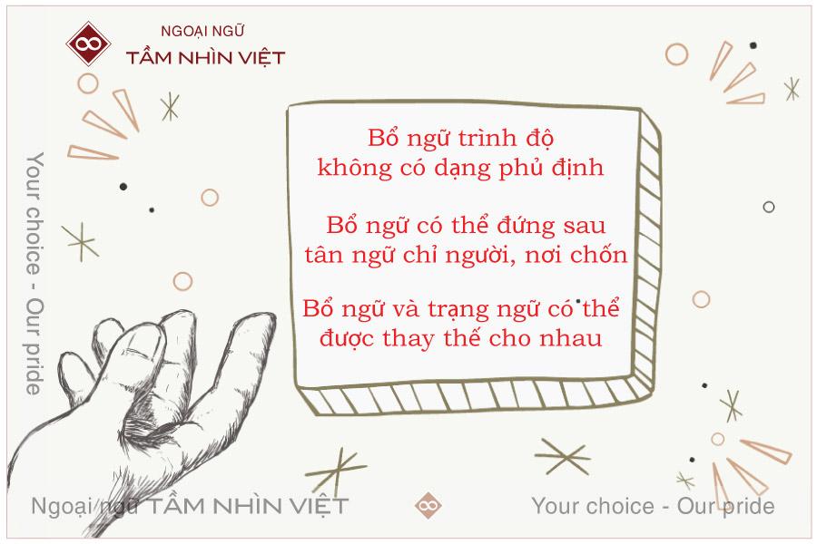 Lưu ý khi dùng bổ ngữ tiếng Hoa