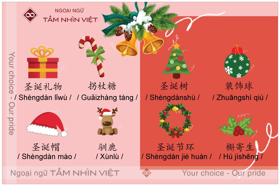 Từ vựng tiếng Trung chủ đề Noel - lễ giáng sinh