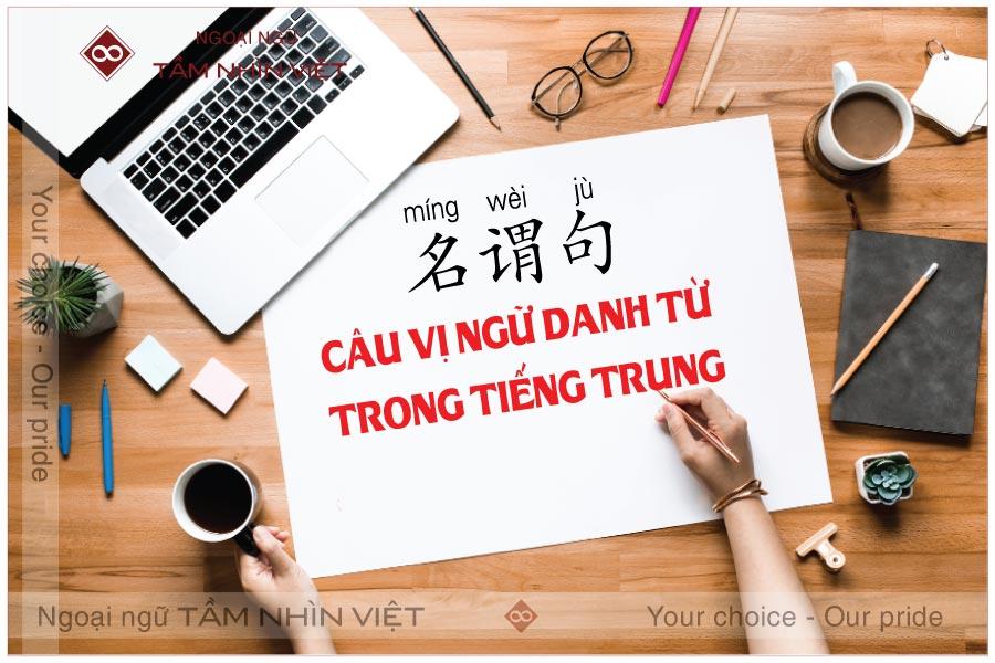 Câu vị ngữ danh từ trong tiếng Trung