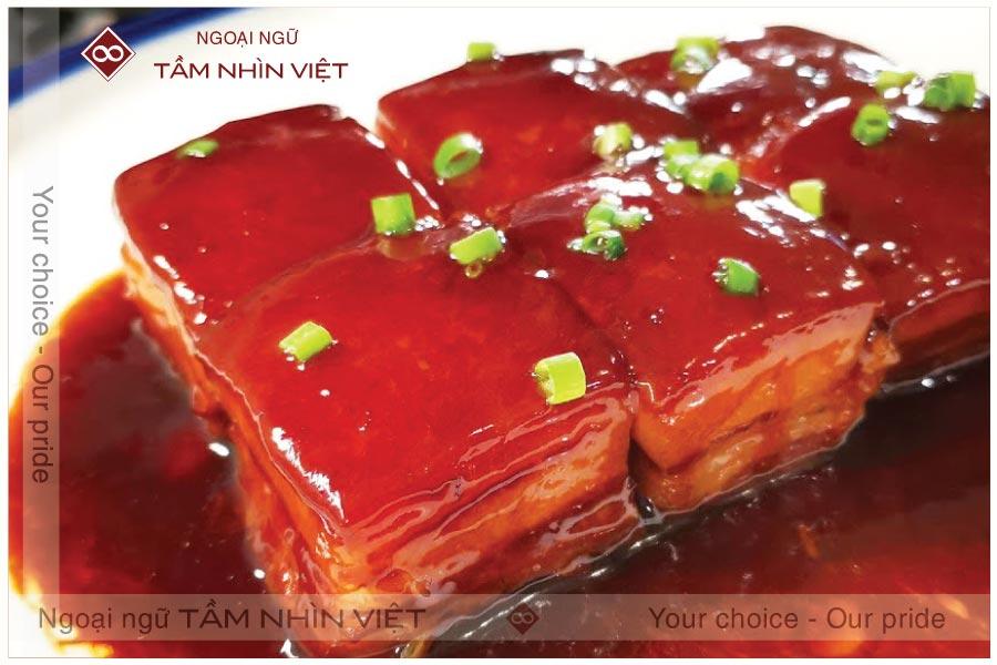 Thịt đông pha Trung Quốc